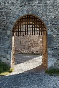 bigstock-Gate-of-an-old-medieval-castle-42442756