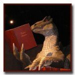 Even dinosaurs like to read books from Castle Gate Press