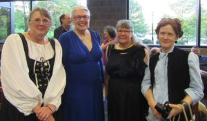 Suzanne and Phyllis (on the right) with Eileen Copeland and Deb Haggerty, ready for the Realm Makers Awards Banquet